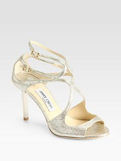 Jimmy Choo - Ivette Crinkled Leather Sandals - Saks.com