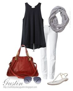 """""""red bag"""" by stacy-gustin ❤ liked on Polyvore featuring B Brian Atwood, 7 For All Mankind, Levi's, 3.1 Phillip Lim, Chloé, Alexander McQueen, skinny jeans, top handle bags, aviator sunglasses and statement scarves"""