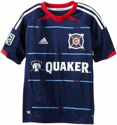 d4a6e76d493 MLS Chicago Fire Youth Replica Alternate Jersey by adidas.  33.98