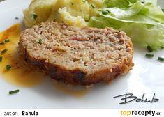 Sekaná v hořčicové směsi recept - TopRecepty.cz Meatloaf, Food And Drink