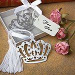 Crown design bookmark favors As low as $0.79