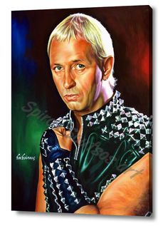 Rob Halford, Judas Priest, poster in high quality glossy canvas print in several sizes & best prices. Original acrylic portrait painting by Spiros Soutsos Music Drawings, Music Artwork, Art Music, Music Festival Outfits, Music Festival Fashion, Judas Priest, Heavy Metal Music, Heavy Metal Bands, Original Movie Posters
