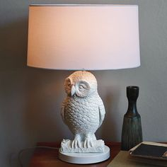 dying for this!! owl table lamp from west elm $99.00