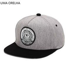 f27660fb 2018 3d god eyes plastic patch mens flat brim baseball cap hip hop hat and  cap