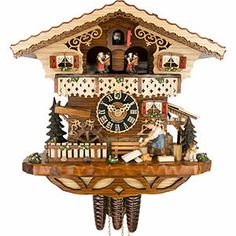 Cuckoo Clock 1-day-movement Chalet-Style 29cm by Hönes - 6245T