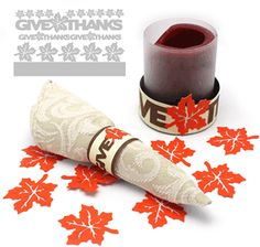 Silhouette Online Store - View Design #35029: give thanks napkin rings
