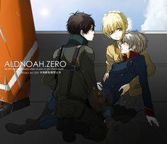 Aldnoah Zero - Kaizuka Inaho and Slaine Troyard Aldnoah Zero Slaine, Best Puns, Creepypasta Cute, Space Princess, Anime Nerd, Manga, Image Boards, I Fall In Love, Fan Art