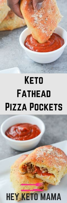 These Keto Fathead Pizza Pockets are delicious proof that going low carb does not mean giving up your favorite foods! | heyketomama.com