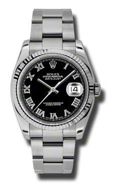 ROLEX | Review Rolex Datejust Black Dial White Gold Bezel Automatic Stainless Steel Ladies Watch 116234BKRO By Rolex | REVIEW ROLEX WATCHES