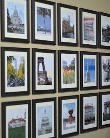 I've wanted to do a wall of travel pictures for a while now, and I finally got around to it this week.       I had Costco print 15 pictures...