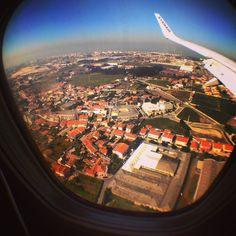43 por la ventana del avión