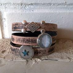 Bracelet cuir 2 chunks 03