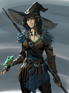 Witch by Danila Kalinin - Your Daily Dose of Amazing beautiful Creativity and Digital Art - Fantasy Characters: Archers Assassins Astronauts Boners Knights Lovers Mythology Nobles Scholars Soldiers Warriors Witches Wizards Fantasy Character Design, Character Creation, Character Design Inspiration, Character Concept, Character Art, Character Ideas, Viking Character, Witch Characters, Dungeons And Dragons Characters