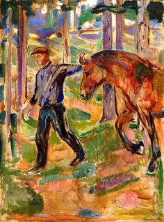 Edvard Munch ~ The Pathfinder, 1912-13