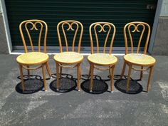 Vintage Bentwood Thonet Cane Cafe Chairs 10 OFF by Designitgirl, $650.00