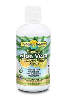 Dynamic Health Organic Certified Aloe Vera Juice LemonLime Flavor 32Ounce * You can find out more details at the link of the image.