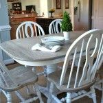 How to Refinish a Table. This is the look I'm going for on a craigslist table in the kitchen.