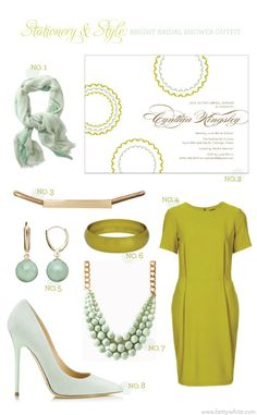 Stationery  Style: Bright Bridal Shower Outfit | Flights of Fancy (click for sources)