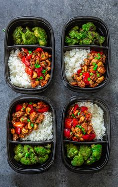 Who needs takeout when you can cook delicious Cashew Chicken at home? Tender chicken, scallions and peppers coated in a rich, sweet sauce and topped with crunchy cashews. Easy Healthy Meal Prep, Easy Healthy Recipes, Healthy Snacks, Low Carb Recipes, Easy Meals, Lunch Meal Prep, Meal Prep Bowls, Prepped Lunches, Kid Lunches