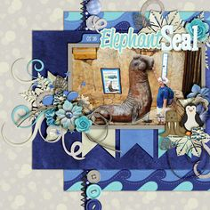 Kit & Template: Zoobilee Arctic Collection Bundle - Meagan's Creations Font: Reklame Script