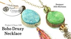 This video tutorial from The Potomac Bead Company teaches you how to make Allie Buchman's Boho Druzy Necklace pattern. Find a list of all supplies used in th...
