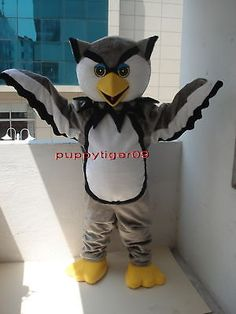 New Style Professional Quality OWL Mascot Costume Fancy Dress Adult Size
