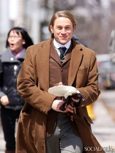 Tom Hiddleston And Charlie Hunnam Are A Beautiful Duo On The Set Of 'Crimson Peak'