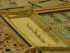 Circo romano de Tarraco    Construido a finales del siglo I dC.  Maqueta.