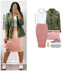 Curvy Girl Fashion, Cute Fashion, Modest Fashion, Fashion Outfits, Womens Fashion, Cute Casual Outfits, Stylish Outfits, Casual Pencil Skirt Outfits, Looks Jeans