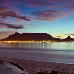Table mountain during a beautiful sunset in Cape Town , South Africa Places Around The World, Around The Worlds, Table Mountain Cape Town, Africa Destinations, Vacation Destinations, Dream Vacations, Mountain Images, Cape Town South Africa, Image Hd