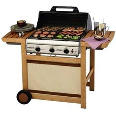 Barbecue Mistergooddeal, achat pas cher Barbecue Gaz CAMPINGAZ ADELAIDE 3 WOODY L prix promo Mistergooddeal 429.00 €