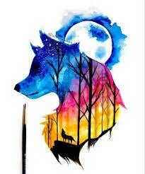 Saved by vaishnavi cool drawings, beautiful drawings, animal drawings, cute art, watercolor Wolf Painting, Painting & Drawing, Cute Animal Drawings, Cute Drawings, Beautiful Drawings, Drawings Of Wolves, Wolf Artwork, Galaxy Art, Galaxy Painting