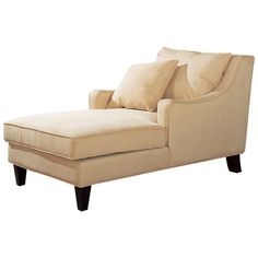 Microfiber-upholstered chaise lounge with tapered legs.   Product: Chaise Construction Material: Wood, fabric and micr...