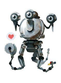 "groovyfass: "" Look at these dumb stickers I made of my robot son/robot girlfriend "" Fallout Rpg, Fallout Fan Art, Fallout Cosplay, Fallout Game, Fallout New Vegas, Robot Girlfriend, Mr Handy, Vault Dweller, Post Apocalypse"