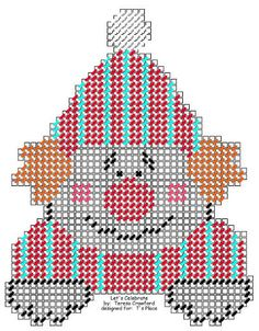 Birthday Clown, Happy Birthday, Plastic Canvas Letters, Canvas Patterns, Cross Stitching, Needlepoint, Projects To Try, Let It Be, Canvas Ideas