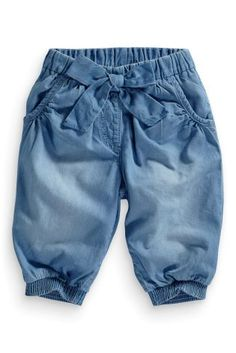 £9 Buy Soft Denim Cropped Trousers (3mths-6yrs) from the Next UK online shop