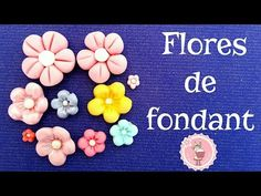 YouTube Making Fondant, Fondant Flowers, Cupcakes, Candy, Frame, How To Make, Diy, Magdalena, Youtube