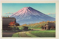 Autumn at Funatsu, Hasui. Edition from original plates after his death.