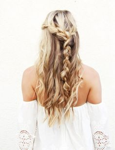 Undone Half-Up Braid...