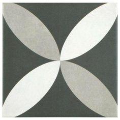Merola Tile Twenties Petal 7-3/4 in. x 7-3/4 in. Ceramic Floor and Wall Tile