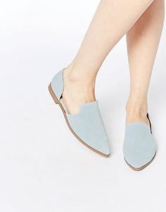 Pin for Later: 23 Commute-Friendly Shoes to Wear to Work in the Summer  ASOS Pointed Denim Flats ($33)