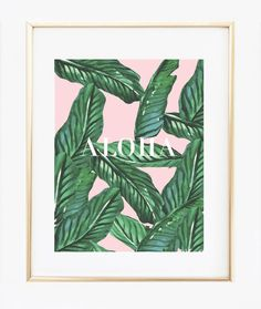 Palm Leaf Aloha #Print   https://bymaria.com/