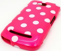 $11.99 free shipping USA CoolPad Quattro 4G 5860E Pink White Polka Dot Hard Cover Case - http://www.cellcasesusa.com/ code PINTEREST1 for 15% off