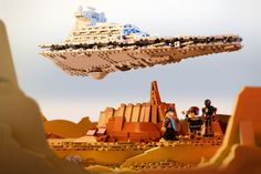 Star Wars Rogue One Imperial Star Destroyer Jedha Lego Star Wars, Star Wars Rebels, Star Trek, Star Destroyer, Film Star Wars, Lego Videos, Lego Pictures, Cool Lego Creations, Funny Scenes