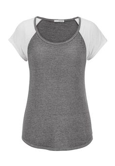 scoop neck burnout baseball tee #maurices