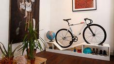 Du mobilier design moderne et un rack à vélos - Vélo ville & vélo urbain sur Le Vélo Urbain.com