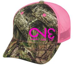 CNM100M Camo Cap with Neon Mesh Back