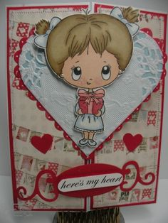Valentine's Day Gate Fold Card    On my blog at: www.injoystampin.com