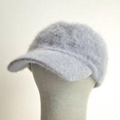 Vintage 1990s angora fur ball cap