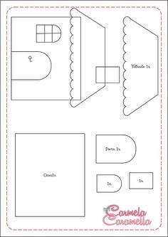Quiet Book Templates, Quiet Book Patterns, Felt Patterns, Applique Patterns, Applique Quilts, Applique Designs, House Quilt Block, House Quilts, Quilting Projects